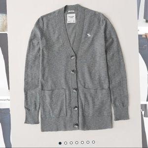 A&F Grey Cardigan